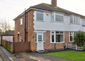 Thumbnail 3 bed semi-detached house for sale in Branting Hill Avenue, Glenfield, Leicester