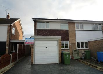 Thumbnail 3 bed semi-detached house to rent in Croydon Drive, Penkridge, Staffs