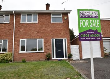Thumbnail 3 bed semi-detached house for sale in Grange Lane, Rushwick, Worcester, Worcestershire