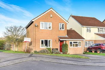 Thumbnail 3 bed detached house for sale in The Teasels, Warminster
