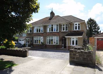 Thumbnail 4 bed semi-detached house for sale in Lambourn Avenue, Swindon, Wiltshire