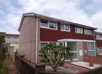 Thumbnail 3 bed end terrace house to rent in Speedwell Crescent, Plymouth