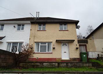 Thumbnail 2 bed semi-detached house to rent in Heol Mynydd, Cilfynydd, Pontypridd