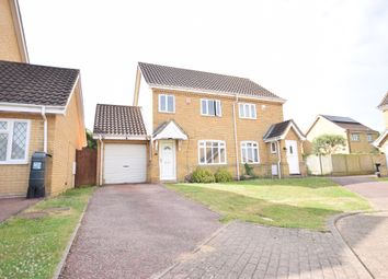 Thumbnail 3 bedroom semi-detached house for sale in Pinsent Avenue, Bromham, Bedford