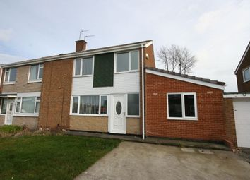 Thumbnail 3 bedroom semi-detached house for sale in Cawood Drive, Tollesby, Middlesbrough