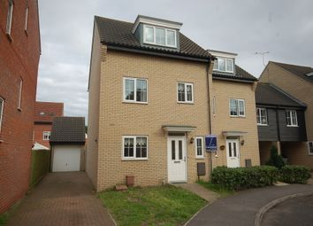 Thumbnail 4 bedroom town house for sale in Spindle Drive, Thetford