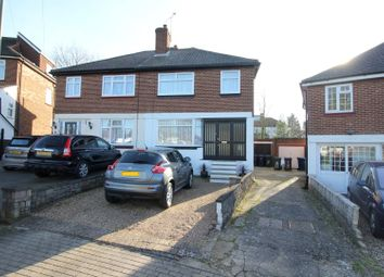 Thumbnail 3 bed semi-detached house for sale in Langley Crescent, Edgware