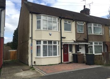 Thumbnail 3 bedroom end terrace house to rent in Shelley Road, Luton, Beds