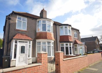 Thumbnail 3 bed semi-detached house for sale in Ashbrooke, Monkseaton, Whitley Bay