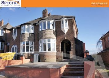 Thumbnail 3 bedroom semi-detached house to rent in Yarningale Road, Kings Heath, Birmingham
