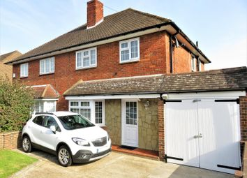 Thumbnail 3 bedroom semi-detached house for sale in Wycliffe Close, Welling, Kent
