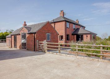 Thumbnail 4 bed equestrian property for sale in Lime Kiln Road, Butterton Moor Bank, Butterton, Leek