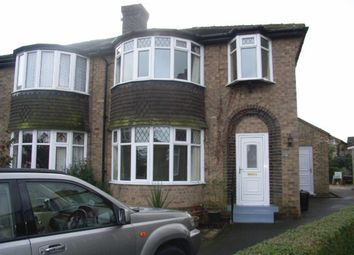 Thumbnail 3 bed semi-detached house to rent in Rossett Way, Harrogate