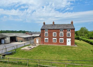 Thumbnail 5 bed farmhouse for sale in Gorstage Lane, Gorstage, Northwich
