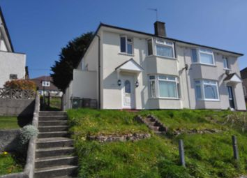 Thumbnail 3 bed semi-detached house to rent in Taunton Avenue, Plymouth