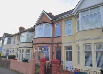Thumbnail 3 bed terraced house to rent in Blenheim Road, Newport