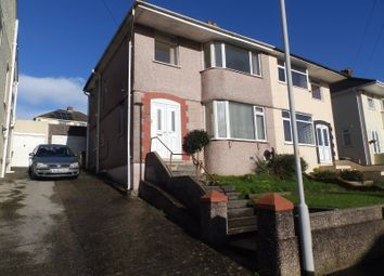 Thumbnail 3 bed semi-detached house to rent in Lynwood Avenue, Woodford, Plympton, Plymouth