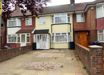 Thumbnail 3 bed terraced house to rent in Selborne Gardens, Perivale, Greenford, Greater London