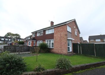 Thumbnail 3 bed semi-detached house to rent in Elsham Close, Leicester