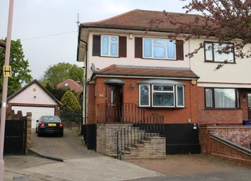 Thumbnail 3 bed semi-detached house to rent in Highfield Close, Collier Row, Romford