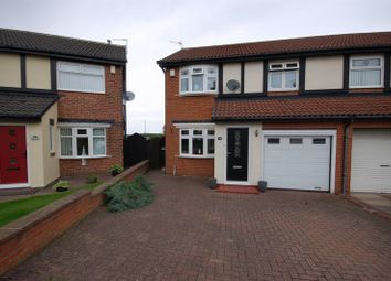 Thumbnail 3 bed semi-detached house for sale in Edgemount, Killingworth, Newcastle Upon Tyne