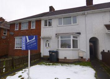 Thumbnail 3 bed property to rent in Sladepool Farm Road, Maypole, Birmingham