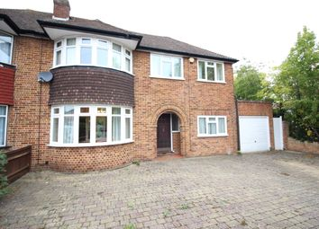 Thumbnail 4 bed semi-detached house to rent in Downfield, Worcester Park