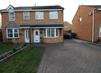 Thumbnail 3 bed semi-detached house for sale in Falcon Close, Adwick-Le-Street, Doncaster