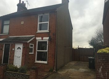 Thumbnail 2 bedroom semi-detached house to rent in Waveney Road, Ipswich