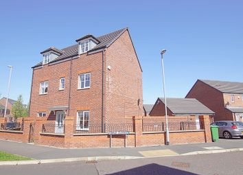 Thumbnail 4 bed detached house for sale in Bretton Avenue, Warrington