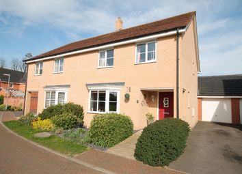 Thumbnail 4 bed semi-detached house for sale in Orchard Close, Isleham