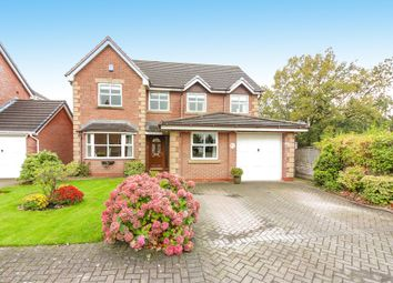 Thumbnail 4 bedroom detached house for sale in Petersfield Gardens, Culcheth, Warrington
