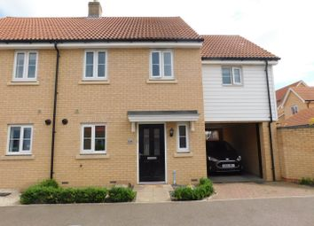 Thumbnail 3 bed semi-detached house for sale in Buzzard Rise, Stowmarket