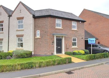 Thumbnail 3 bed semi-detached house for sale in Goldworkings Crescent, Glenfield, Leicester