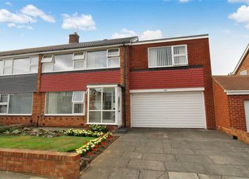 Thumbnail 4 bed semi-detached house for sale in Farringdon Road, North Shields