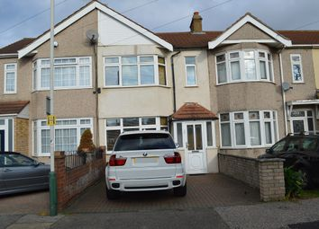 Thumbnail 3 bed terraced house to rent in Hawthorn Avenue, Rainham, Essex