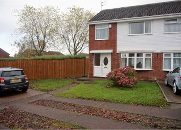 Thumbnail 3 bed semi-detached house for sale in Hersham Close, Kingston Park