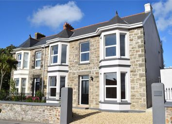 Thumbnail 4 bedroom semi-detached house for sale in Pednandrea, Redruth, Cornwall