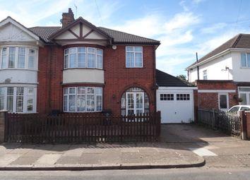 Thumbnail 3 bedroom semi-detached house for sale in Sandringham Avenue, Belgrave, Leicester