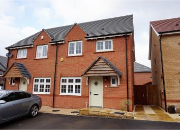 Thumbnail 3 bed semi-detached house for sale in Octon Close, Leicester