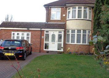 Thumbnail 3 bed semi-detached house for sale in Ashville Avenue, Birmingham