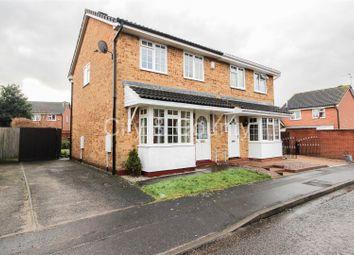 Thumbnail 3 bed semi-detached house for sale in Flamborough Close, Woodston, Peterborough
