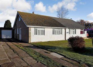 Thumbnail 2 bed semi-detached bungalow for sale in Brockman Crescent, Dymchurch, Romney Marsh, Kent