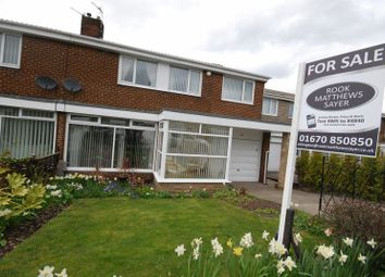 Thumbnail 4 bed semi-detached house for sale in Highfield Drive, Ashington