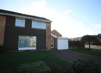 Thumbnail 4 bed semi-detached house for sale in Leconfield Close, Tonbridge
