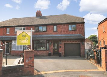 Thumbnail 4 bed semi-detached house for sale in Leonard Drive, Brown Edge, Stoke-On-Trent