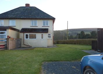 Thumbnail 2 bed semi-detached house to rent in Sennybridge, Brecon