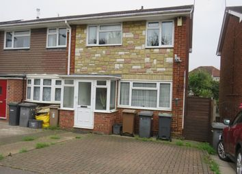 Thumbnail 3 bedroom end terrace house for sale in Rosedale Close, Luton