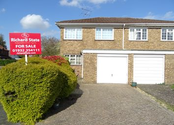 Thumbnail 3 bed semi-detached house for sale in Bates Walk, New Haw
