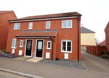 Thumbnail 3 bedroom semi-detached house for sale in Albini Way, Wymondham